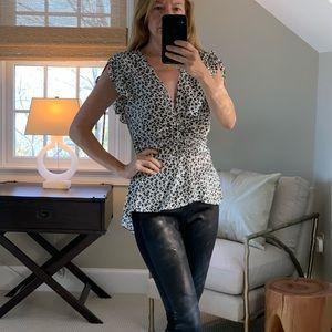 Veronica Beard black & white short sleeve top
